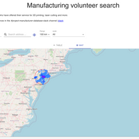Manucor site screenshot of New York area volunteers.